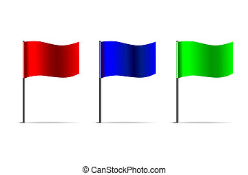 vector 3d flags