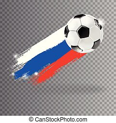 Vector 3d football isolated ball on transparent background....