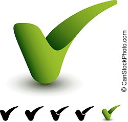 vector 3d green positive checkmark