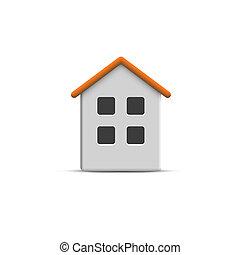 Vector 3d home icon