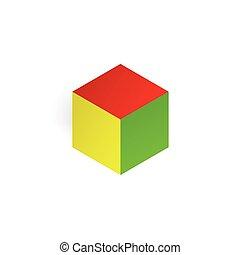 Vector 3d illustration color cube
