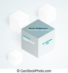 Vector 3d illustration cubes