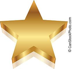 Vector 3d illustration of gold star