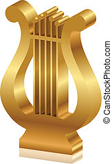 Vector 3d illustration of golden ly