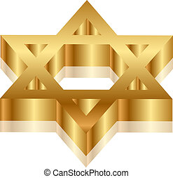 Magen David - Vector 3d illustration of Magen David (star of...