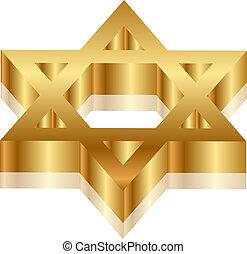 Magen David - Vector 3d illustration of Magen David (star of...