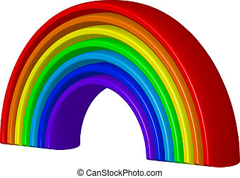 Vector 3d illustration of rainbow
