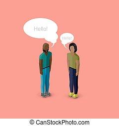 vector 3d isometric cartoon illustration of men or guys...