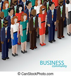 vector 3d isometric  illustration of business or politics commun