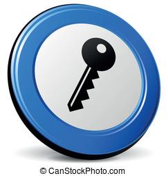 Vector 3d key icon
