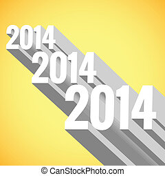 vector 3d new year design