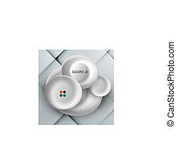 Vector 3d paper circles design