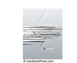Vector 3d paper lines modern design