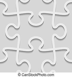 vector 3d paper seamless puzzle pattern