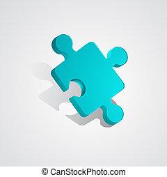 Vector 3d puzzle piece