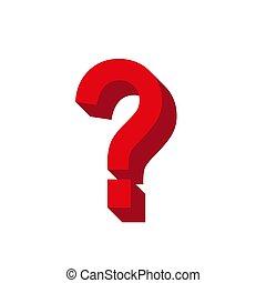 Vector 3d question mark icon