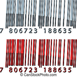 vector, 3d, resumen, barcodes