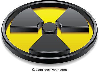 vector 3d shiny radiation symbol