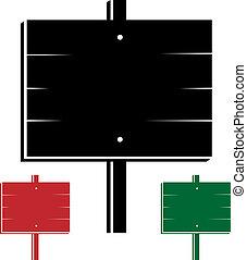 vector 3d signs