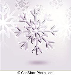 vector 3d snowflake