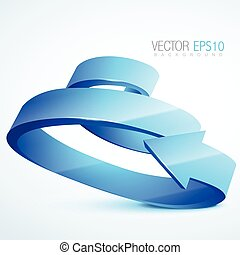 3d sprial arrow illustration - vector 3d sprial arrow...