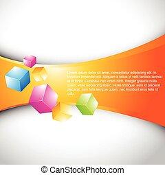 vector 3d stylish cubes