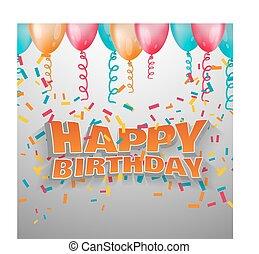 Vector 3d text happy birthday.