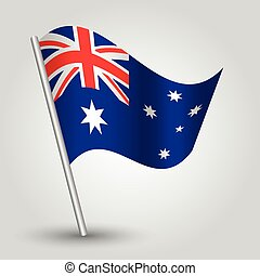 vector 3d waving australian flag