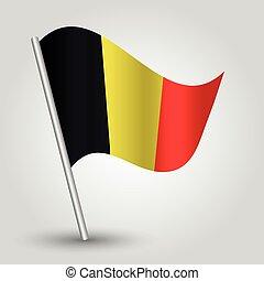 vector 3d waving belgian flag