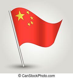 vector 3d waving chinese flag