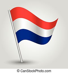 vector 3d waving dutch flag