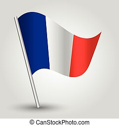 vector 3d waving french flag