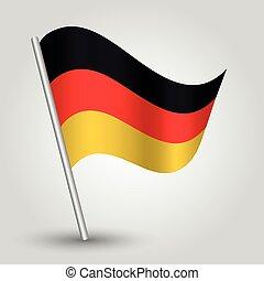 vector 3d waving german flag
