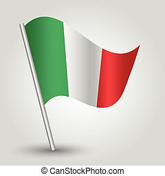 vector 3d waving italic flag