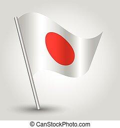 vector 3d waving japanese flag
