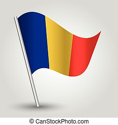 vector 3d waving romanian flag
