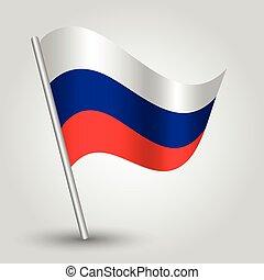 vector 3d waving russian flag