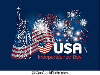 Vector 4 july independence day of USA design