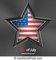 Vector 4th of july background. Independence Day