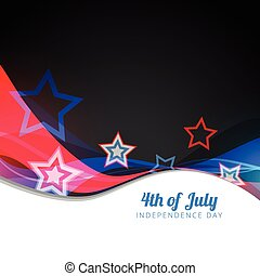 vector 4th of july design - wave style vector 4th of july...