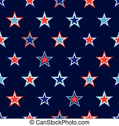 vector 4th of July seamless pattern with stars. EPS
