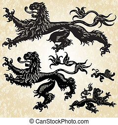 Vector 5 Gothic Lion Set