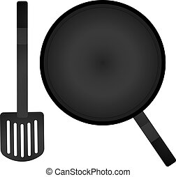 vector a pan and spatula