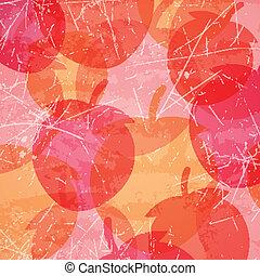 vector, aardbeien, achtergrond