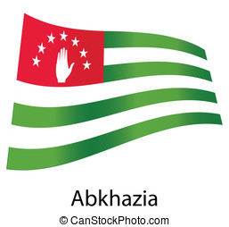 vector abkhazia flag isolated