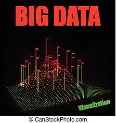 Vector abstract 3D big data visualization.