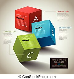 vector abstract 3d box infographics - vector abstract 3d box...