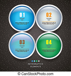 vector abstract 3d circle infographics