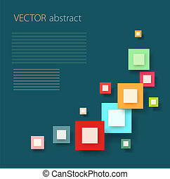 Vector Abstract 3D digital Infographic Background,can be...