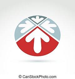 Vector abstract 3D icon, arrow